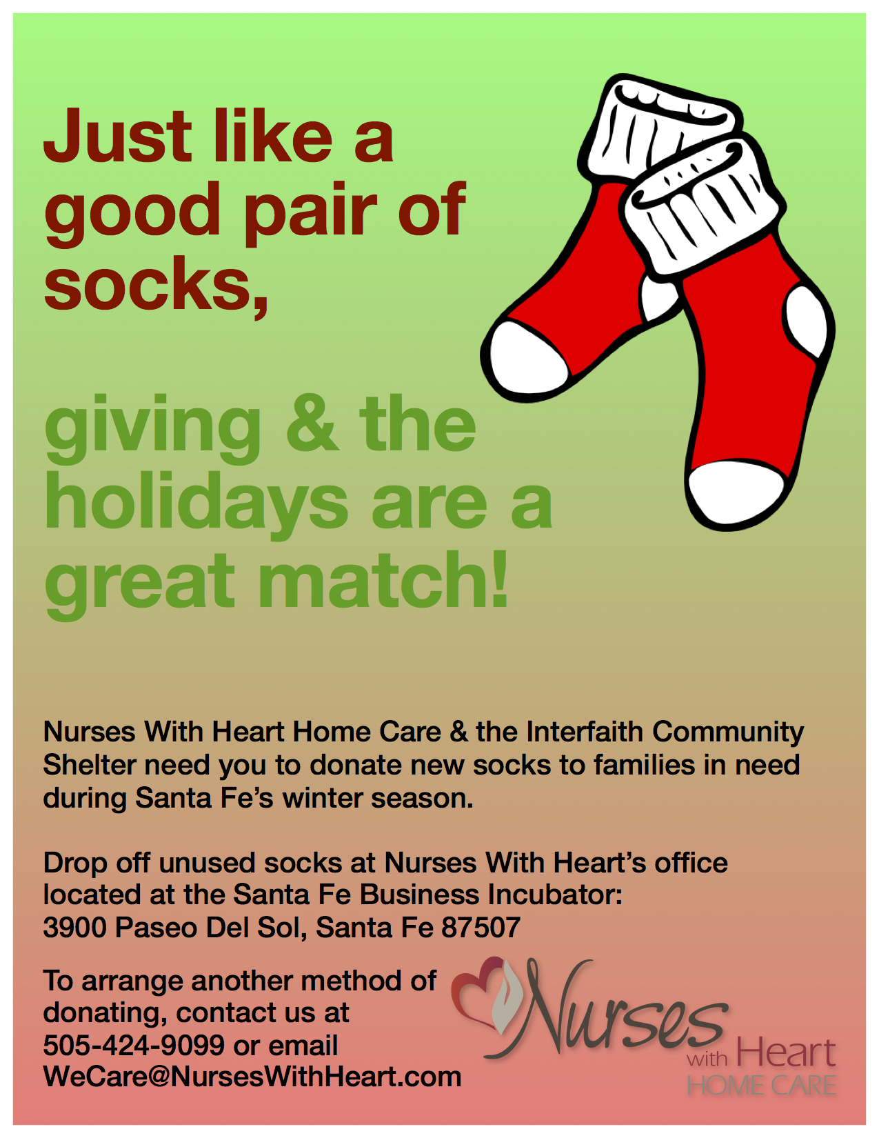 Nurses With Heart 2017 Sock Drive